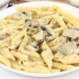 Penne Crème fraîche, champignons